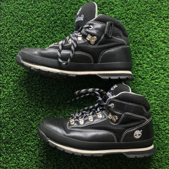 Timberland mid black lace up boot